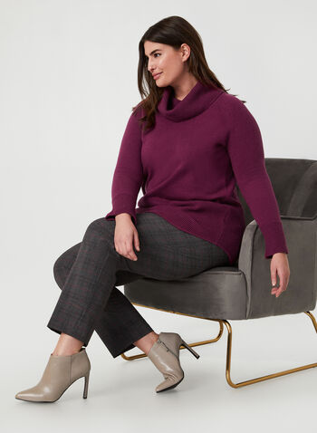 Cowl Neck Sweater, Purple,  sweater, knit, cowl neck, long sleeves, fall 2019, winter 2019