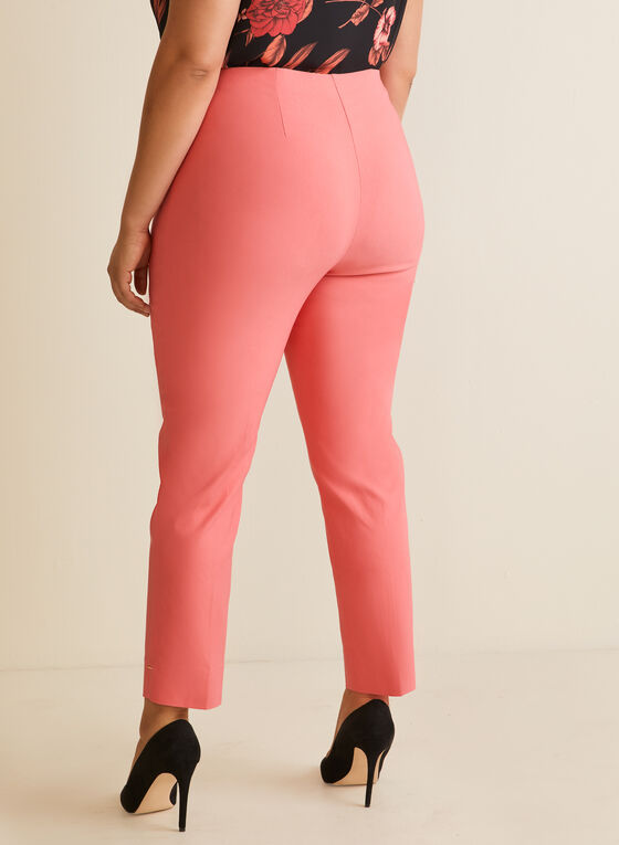City Fit Straight Leg Pants, Orange