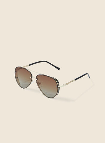 Aviator Sunglasses, Gold,  sunglasses, metal, aviator, spring summer 2020