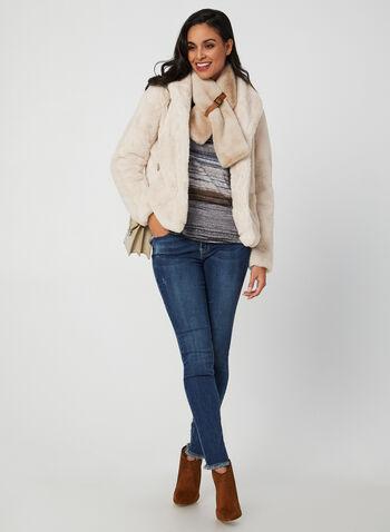 Weatherproof - Manteau en fausse fourrure, Blanc cassé,  manteau, manches longues, col revers, fausse fourrure, automne hiver 2019