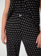 René Rofé - Abstract Print Pyjama Set, Black, hi-res