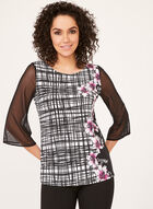 Illusion Bell Sleeve Jersey Top, Multi, hi-res