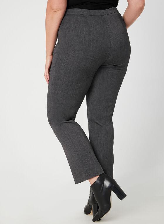 Pantalon coupe signature à jambe droite, Gris