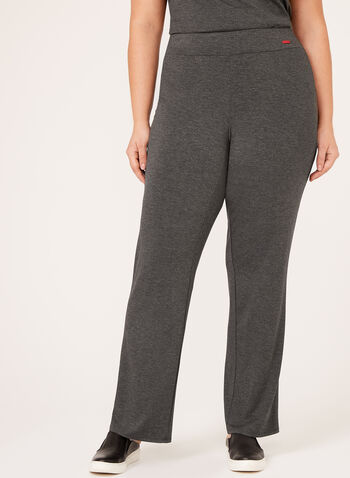 Pull-On Jersey Knit Pants, Grey, hi-res