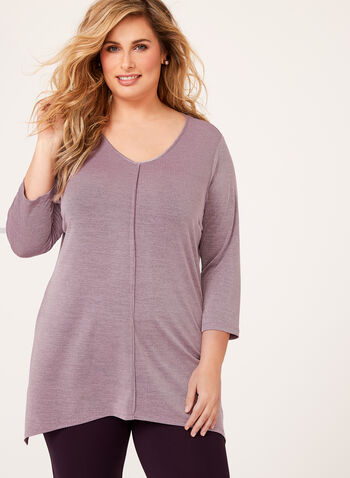 Sharkbite Hem Jersey Knit Tunic , , hi-res