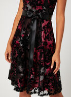 Robe fleurie sans manches à ruban, Noir, hi-res