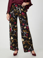 Modern Fit Floral Print Pants, Black