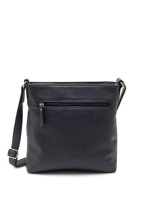 Pocket Detail Crossbody Bag, Blue, hi-res