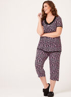 René Rofé - Floral Pedal Pusher Pajama Set, Black, hi-res