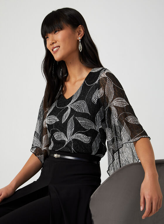 Angel Sleeve Top, Black