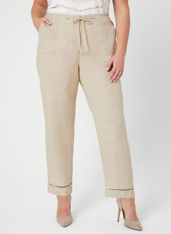 Modern Fit Wide Leg Pants, Off White, hi-res
