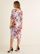 Floral Print Sheath Dress, Pink