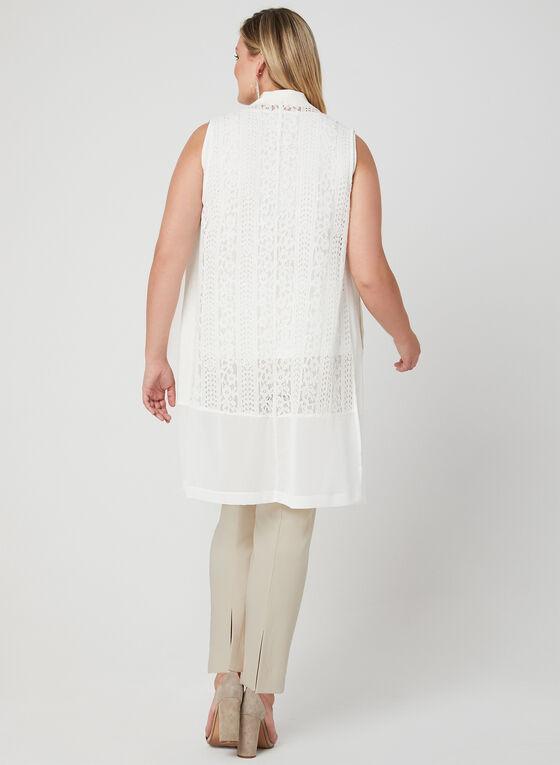 Picadilly - Sleeveless Open Front Jacket, White