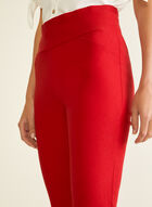 Slim Leg Pull-On Pants, Red
