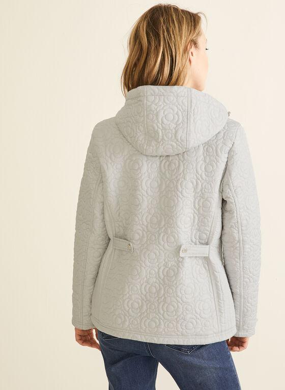 Weatherproof - Manteau matelassé floral à capuchon, Gris