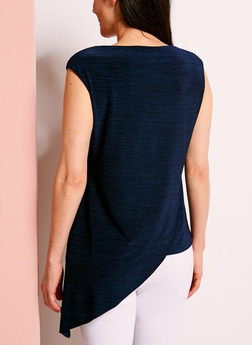 Haut doublé asymétrique, Bleu, hi-res