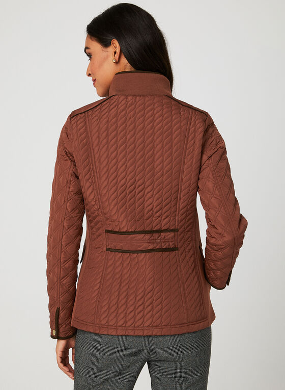 Weatherproof - Lightweight Quilted Coat, Orange, hi-res