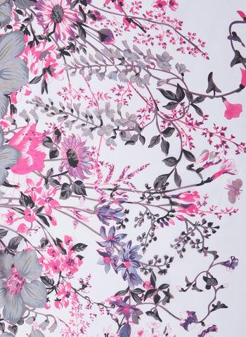 Vince Camuto - Foulard léger fleuri, Gris,  foulard, léger, fleurs, printemps été 2020
