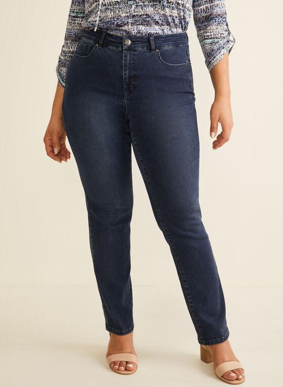 Jeans à jambe droite, Bleu