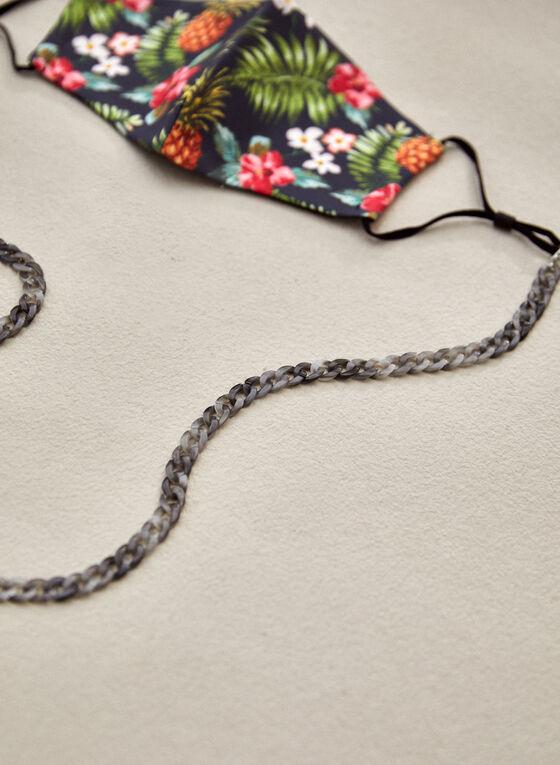 Resin Mask & Glasses Chain, Grey