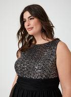 Sleeveless Sequin Dress, Black