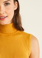 Sleeveless Turtleneck Sweater, Yellow