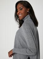 Charlie B - Knit Poncho Sweater, Grey, hi-res