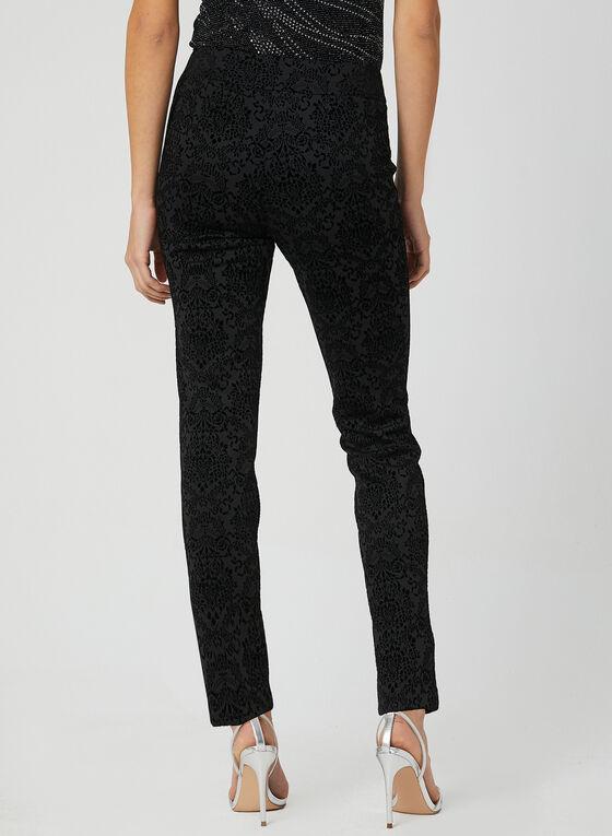 Pantalon texturé coupe moderne , Noir, hi-res