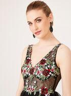 Sleeveless Illusion Waist Dress, Black, hi-res