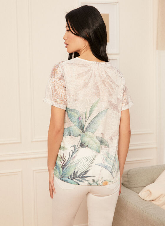 Tropical Print T-Shirt, Green