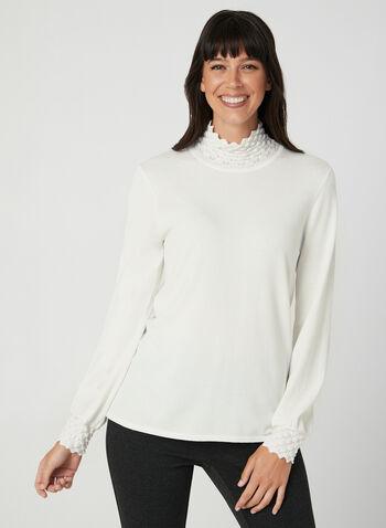 Mock Neck Sweater, Off White,  sweater, knit, mock neck, long sleeves, fall 2019, winter 2019