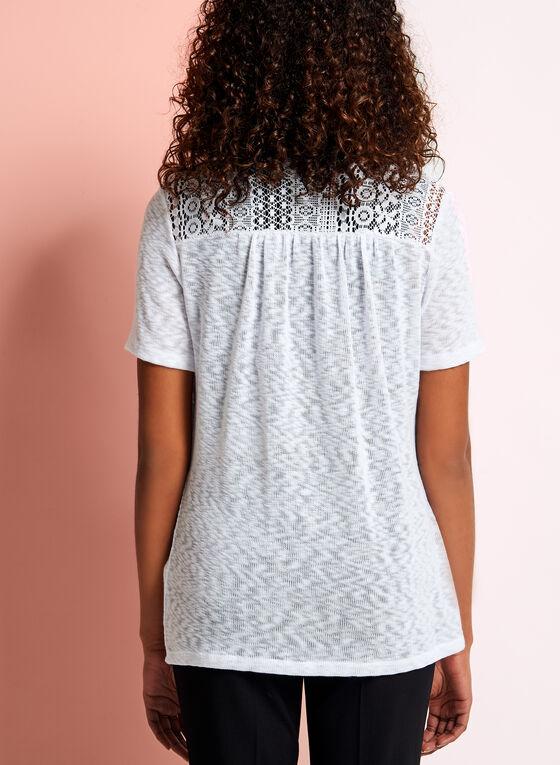 Cardigan tricot avec épaules crochet, Blanc, hi-res