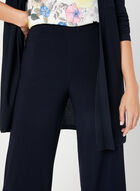 Wide Leg Capri Pants, Blue, hi-res
