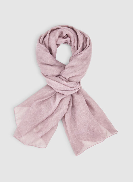 Lightweight Printed Scarf, Pink