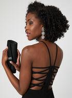 Halter Neck Dress, Black, hi-res