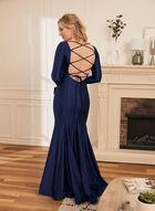 Long Sleeve Mermaid Dress, Blue