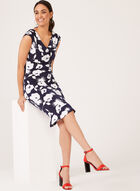 Flounce Hem Floral Jersey Dress, Blue, hi-res