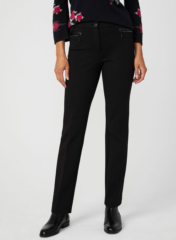 Signature Fit Straight Leg Pants, Black, hi-res