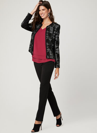 Floral & Glen Check Print Jacket