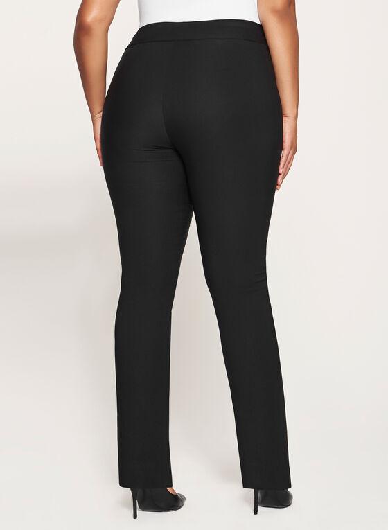 Pantalon pull-on coupe cité à longueur cheville, Noir, hi-res