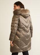 Manteau iridescent en mélange de duvet , Brun
