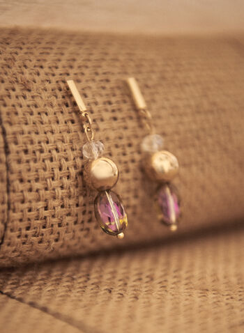 Beaded Dangle Earrings, Multi,  spring summer2021, accessory, accessories, jewelry, jewellery, cascade,