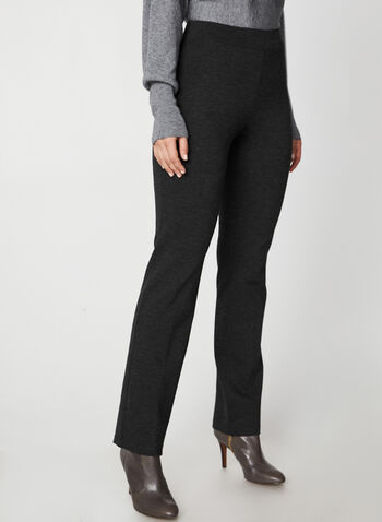 Ponte de Roma Straight Leg Pants, Grey,  canada, pants, jersey, ponte de roma, straight leg pants, pull on, elastic pants, comfortable, fall 2019, winter 2019