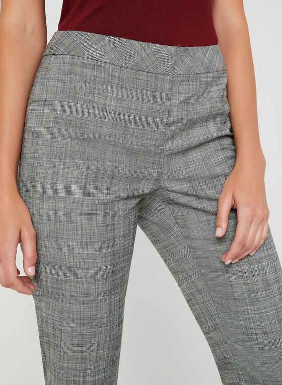 Modern Fit Plaid Pants, Black, hi-res
