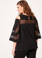 Frank Lyman - Bell Sleeve Cold Shoulder Blouse, Black, hi-res