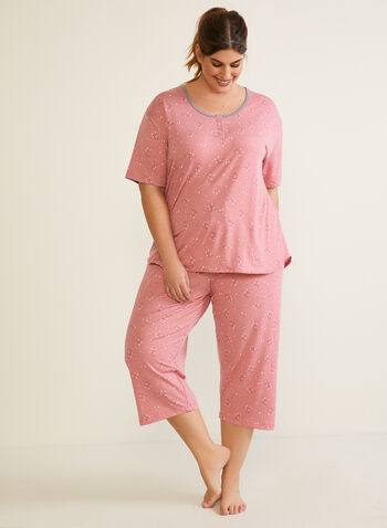 Short Sleeve Pyjama Set, Pink,  pyjama, set, fall winter 2020