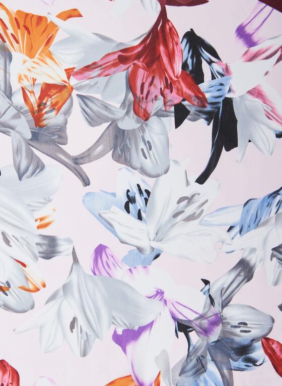 Floral Print Chiffon Scarf, Pink
