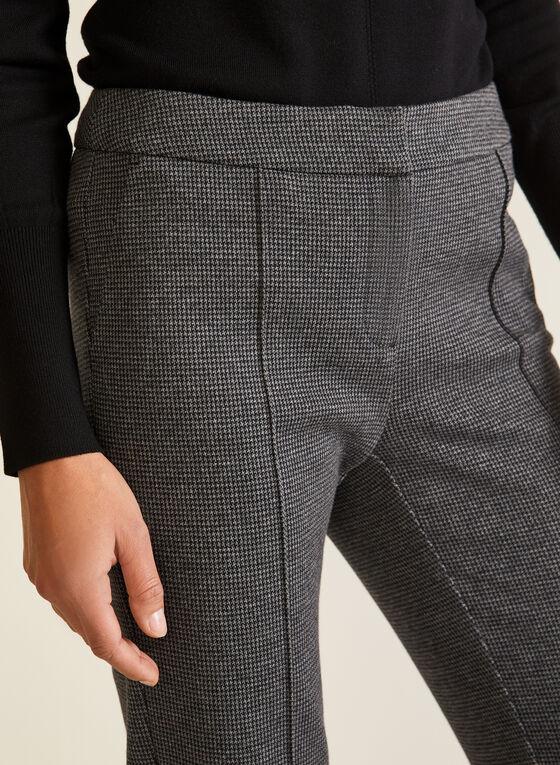 Pantalon coupe moderne motif pied-de-poule, Noir