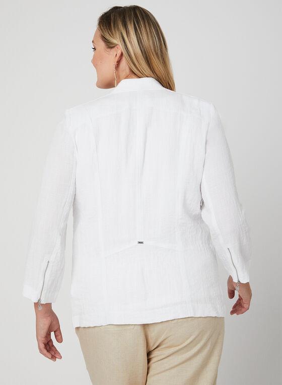 Vex - Veste à détails zippés, Blanc, hi-res