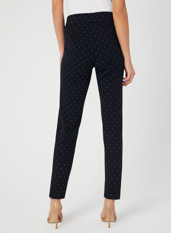 Pantalon coupe moderne motif œil-de-perdrix, Bleu, hi-res